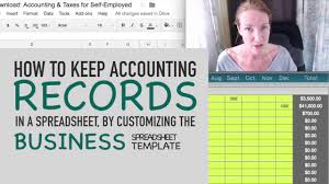 I Need A Spreadsheet Template How To Keep Accounting Records In A Spreadsheet By Customizing