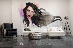 hair salon wall mural on behance