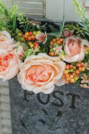 vintage inspired post box flower arrangement