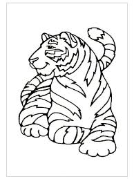 tiger coloring pages ideas for preschool preschool crafts