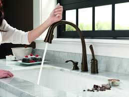 touchless kitchen faucet bronze top faucets lowes sink wonderful