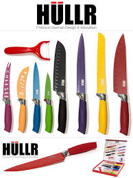 amazon com hullr 9 piece kitchen knife set stainless steel knives