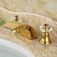 widespread waterfall bathroom sink faucet lavatory vessel sink