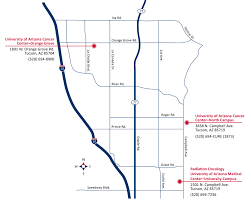 University Of Arizona Map Locations The University Of Arizona Cancer Center