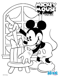 mickey coloring pages mickey u0027 surprise coloring pages hellokids com