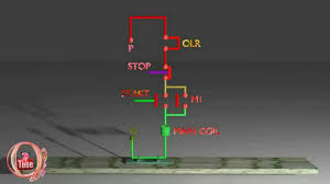 dol starter control circuit diagram animation explain youtube