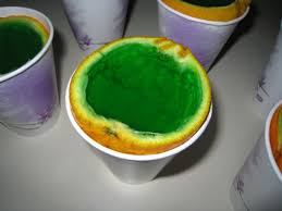 making green green jell o filled orange wedges