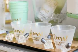 engagement party favors inspiration for a gold and mint engagement party beau coup