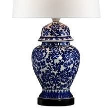 Ginger Jar Table Lamps by Blue And White Porcelain Temple Jar Table Lamp Amazon Com