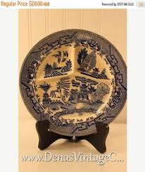 black friday grill sales vintage blue willow made in japan divided grill plate blue and