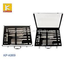 9 pcs stainless steel kitchen knife set in aluminum case buy