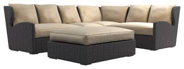 Outdoor Sofa Sectional Set Belstone High Back Deep Seating Outdoor Sectional Set