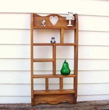 Wall Mounted Wooden Shelves by Vintage Wooden Knick Knack Shelf Wall Mounted Display Shelf Heart