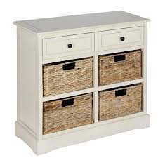Drawer Storage Units Cream Wooden Drawers And 4 Basket Hallway Storage Unit Home