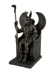 amazon com resin statues bronze finished egyptian god anubis on