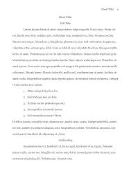 Writing Apa Style Paper Apa Format Sample Paper Essay