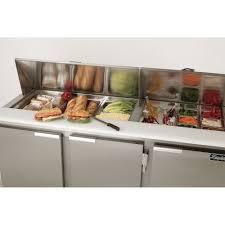 36 inch sandwich prep table leader lmsd36 36 sandwich prep refrigerator shallow depth