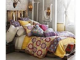 bohemian bedroom ideas astounding white brick wall exposed with colorful cushions feat