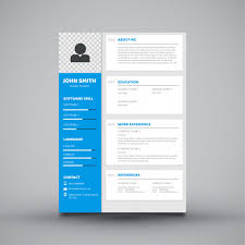 modern curriculum vitae template modern curriculum vitae template design vector premium download