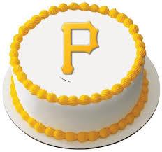 Sheet Cake Decoration Mlb Pittsburgh Pirates Edible Icing Sheet Cake Decor Topper