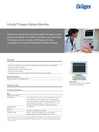infinity kappa patient monitor dräger pdf catalogue
