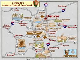 Colorado traveling sites images Colorado national historic sites and landmarks map colorado maps jpg