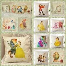 details about beauty and the beast disney princess cushion cover