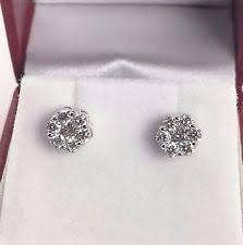invisible earrings invisible set diamond earrings ebay