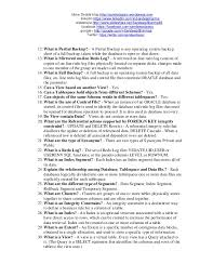 Internal Job Resume by 153 Oracle Dba Interview Questions