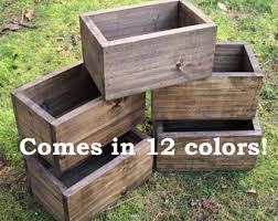 wooden planter boxes etsy