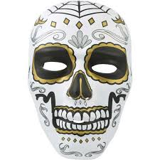 Day Of The Dead Mask Halloween Day Of The Dead Full Face Mask Big W
