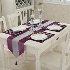 home decor uk luxury diamante thick velvet chenille table runner and table mats