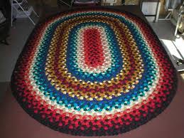 Braided Rugs A Colorful 5 U0027x 7 U0027 Braided Oval Foyer Rug