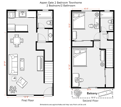 Townhome Floor Plan Designs Du Apartments Pricing And Availability 2017
