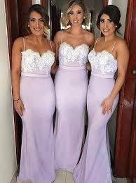 lavender bridesmaids dresses buy mermaid spaghetti straps lavender elastic satin bridesmaid