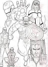 free coloring pages avengers coloring page