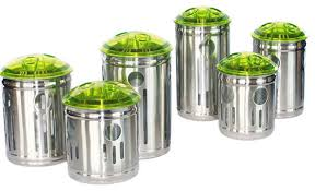 kitchen canisters stainless steel green kitchen canisters photogiraffe me