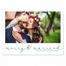 married christmas cards merry married christmas card