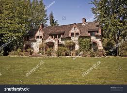 old english tudor cottage owner empire stock photo 33431218