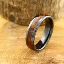 mens wood wedding bands 6mm mens black wood wedding band crafted out of real koa wood high