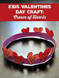 kids valentines day craft crown of hearts happy mothering