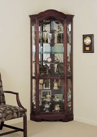 What To Put In A Curio Cabinet Lighted Corner Curio Cabinet Golden Oak U2022 Corner Cabinets