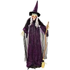 scary props decorations animated witch moving talking