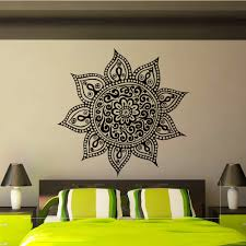 Yoga Home Decor by Mandala Wall Decal Vinyl Sticker Yoga Lotus Flower от Wisdomdecals