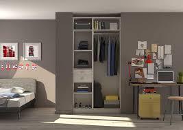 placard encastrable chambre aménagement d un placard d une chambre d adolescent en dressing