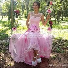 pink vintage lace mermaid wedding dresses 2016 arabic dubai plus