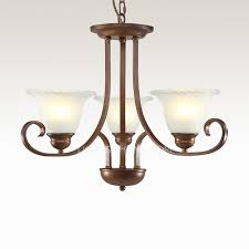 Ivory Chandelier Brown Rustic Ivory Floral Shade Chandeliers