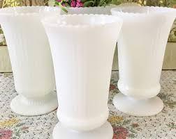 White Tall Vases Milk Glass Vases Bud Vases Small Vase Wedding Vases White