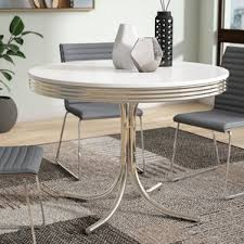 Retro Table Chrome Kitchen U0026 Dining Tables You U0027ll Love Wayfair