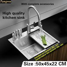 High Quality Kitchen Sinks Tangwu High Quality Food Grade 304 Stainless Steel Kitchen Sink 4